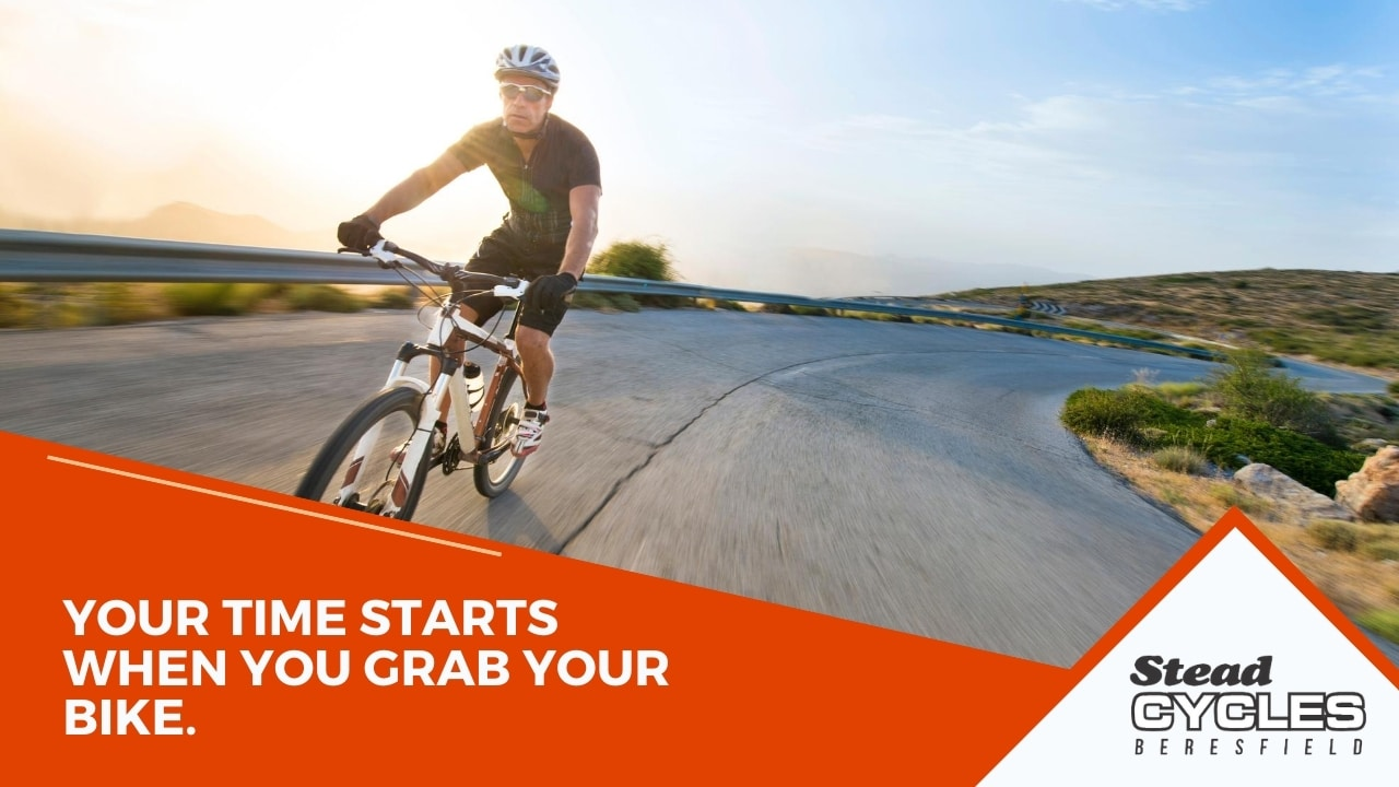 Your time starts when you grab your bike.