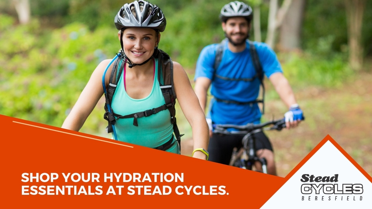 Shop Your Hydration Essentials at Stead Cycles.