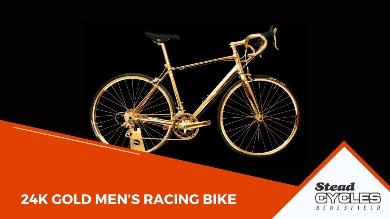 24K Gold Men's Racing Bike