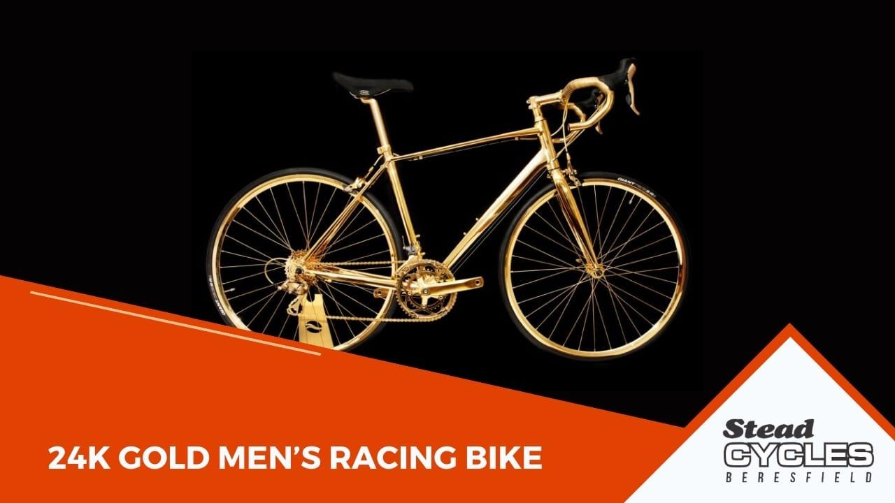 24K Gold Men's Racing Bike